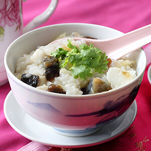 Century Eggs and Fish Fillet Porridge