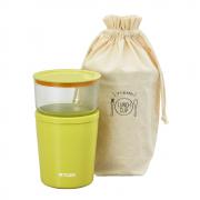 TIGER虎牌LCC黃綠色不銹鋼保溫湯杯連袋